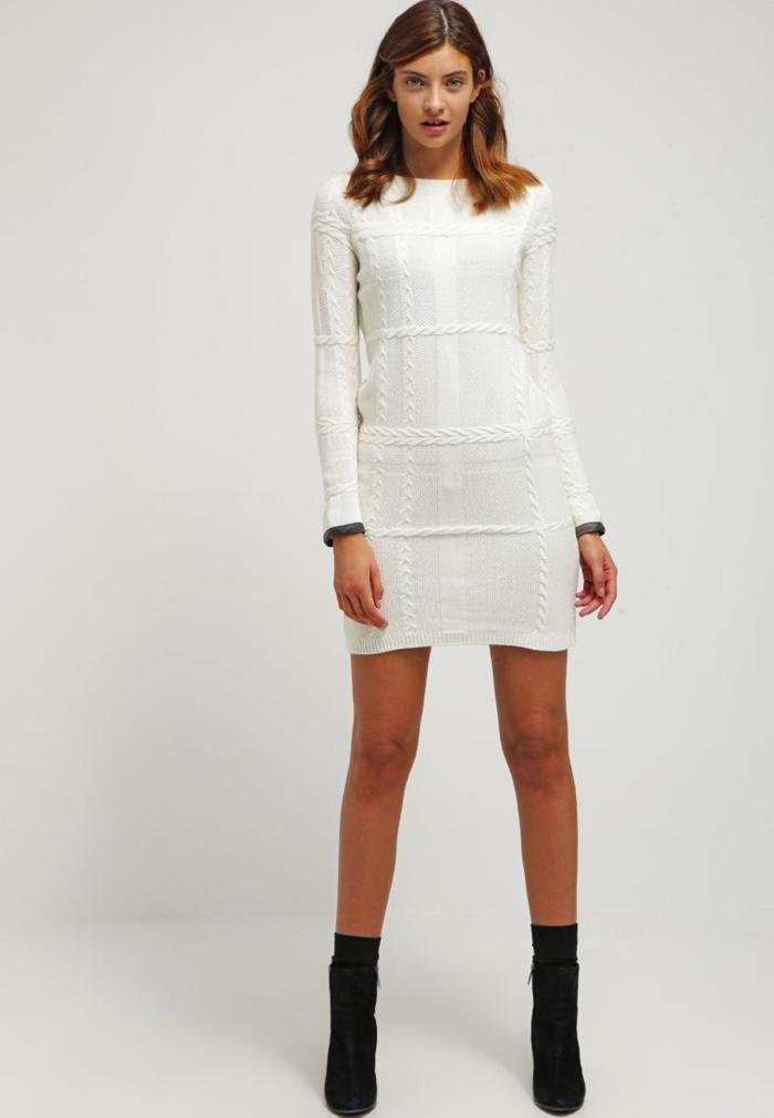 weiße klieder weißes kleid zalando damen mode warm