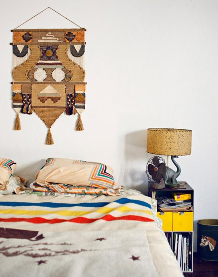 weiße wandfarbe wohnideen schlafzimmer böhmischer einrichtungsstil