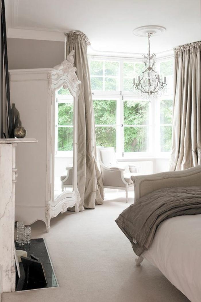 weißer kleiderschrank schlafzimmer einrichten spiegel wohnideen