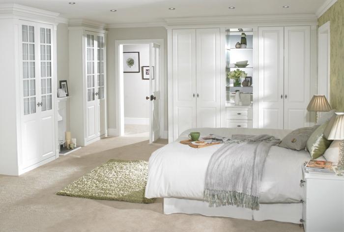 weißer kleiderschrank schlafzimmer weiße einricntung gemütlich
