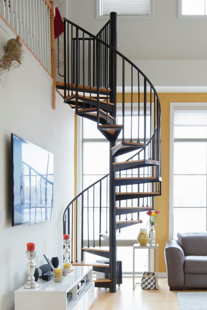 wendeltreppe innen innenarchitektur ideen wohnideen wohnzimmer