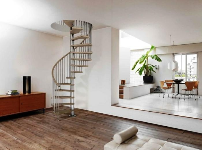 wendeltreppe innen innenarchitektur ideen wohnzimmer