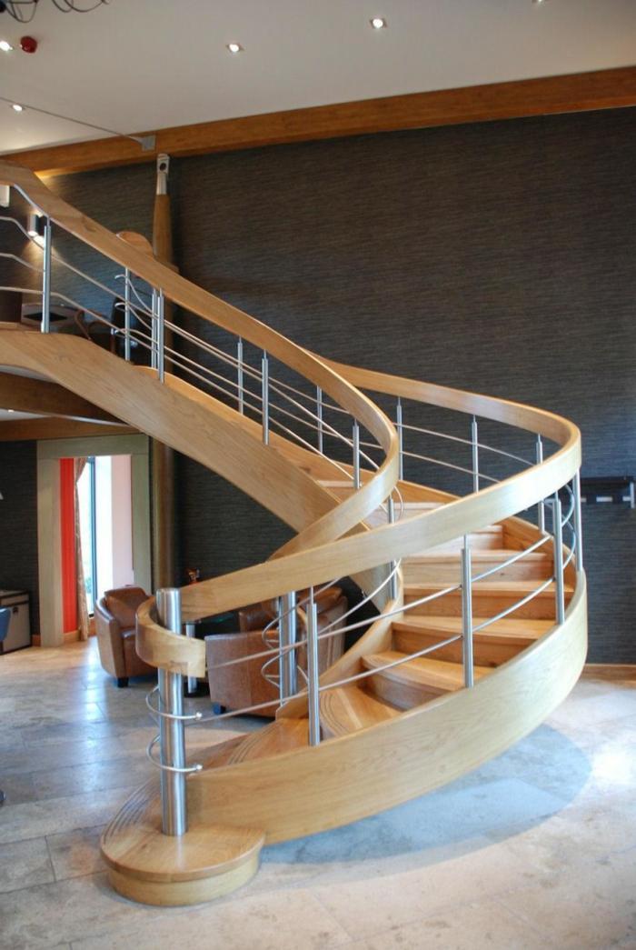 wendeltreppen design innen modern massiv innenarchitektur
