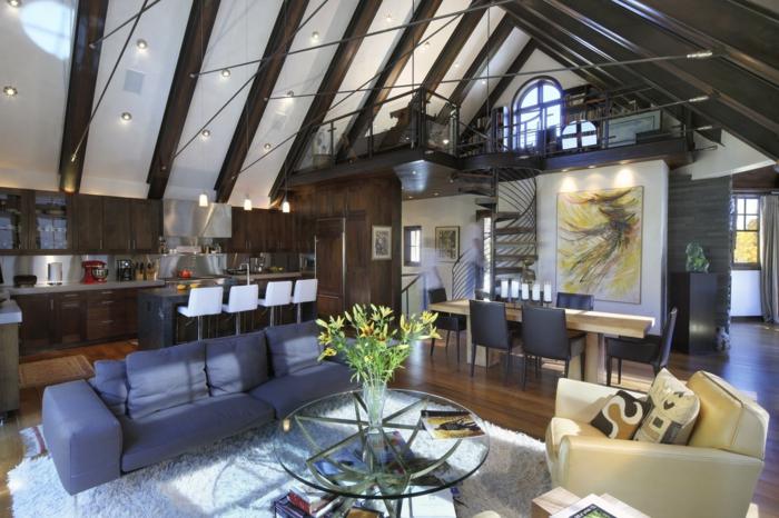 wendeltreppe innen modernes design schöne decke moderne innenarchitektur