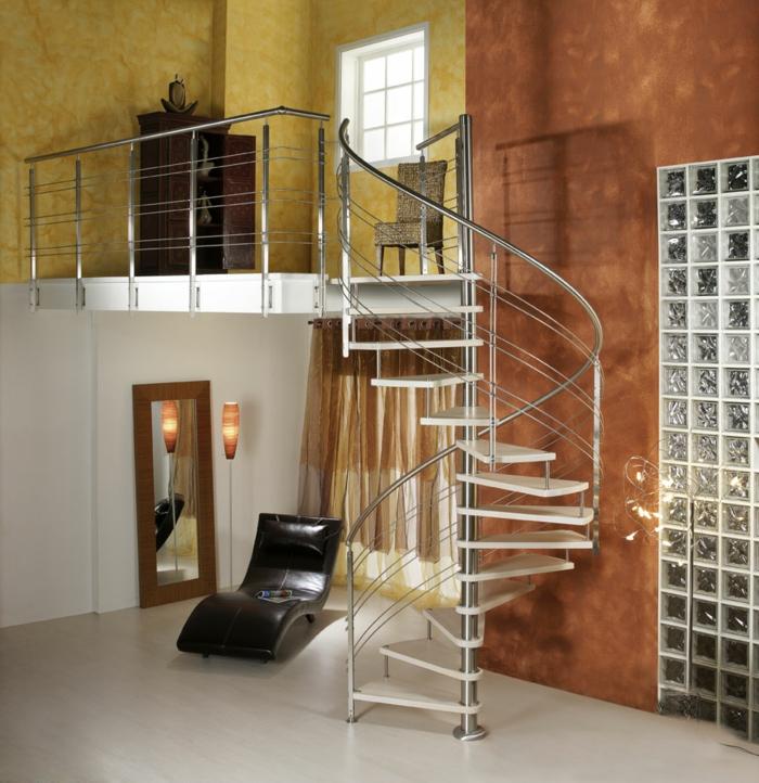 wendeltreppen innenarchitektur wohnideen wohnzimmer innetreppen design
