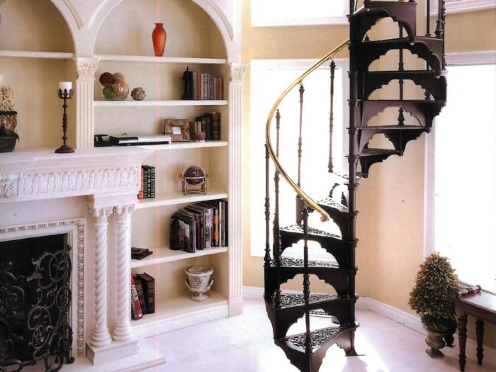 wendeltreppen ausgefallene treppenstufen ornamente innenarchitektur ideen