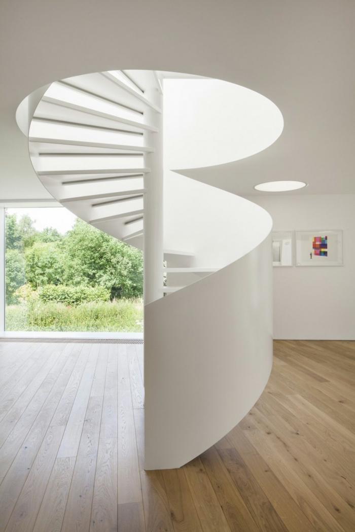 wendeltreppen design weiß stilvoll moderne innenarchitektur