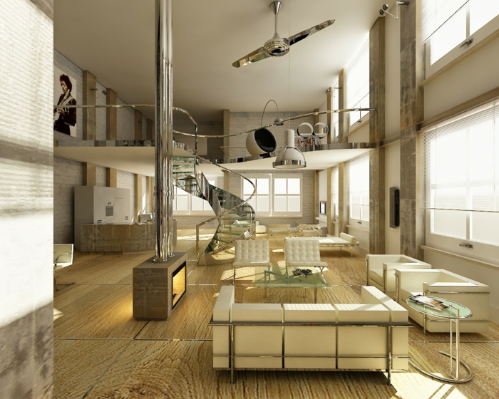 wendeltreppen wohnzimmer moderne innenarchitektur innentreppen metall glas