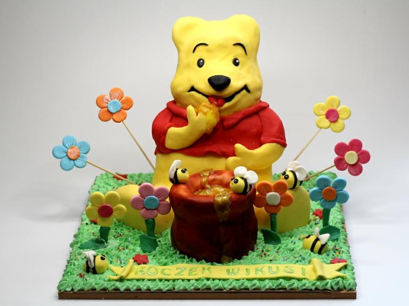 winnie the pooh 3D Tortendekoration Geburtstag Kindertorte Bilder