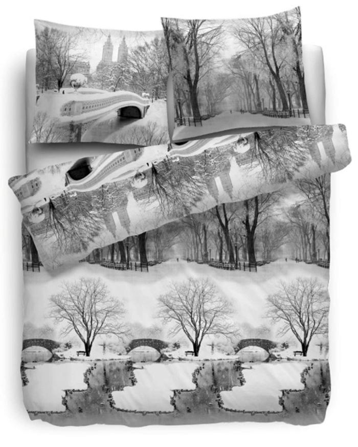 winterbettwäsche biber winterliche  motive biber bettwäsche warme bettwäsche schnee landschaft