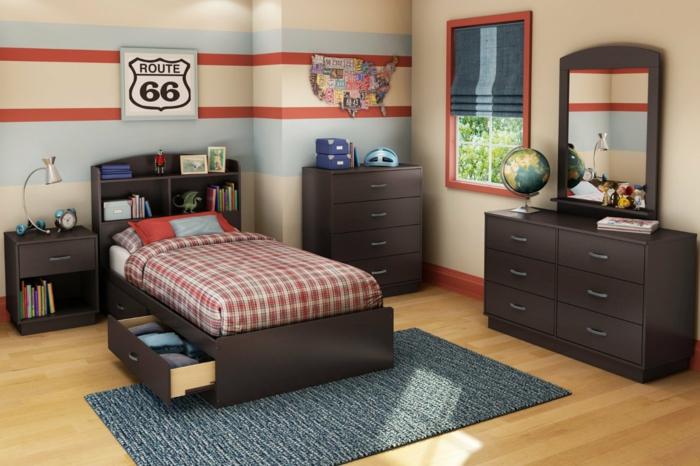 wohnideen schlafzimmer jugendzimmer funktionales bett schubladen