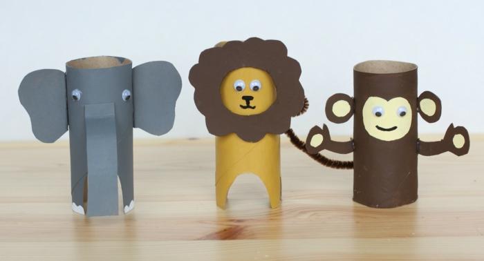 wohnideen selber machen papierrolle ausnutzen schöne deko kinderzimmer