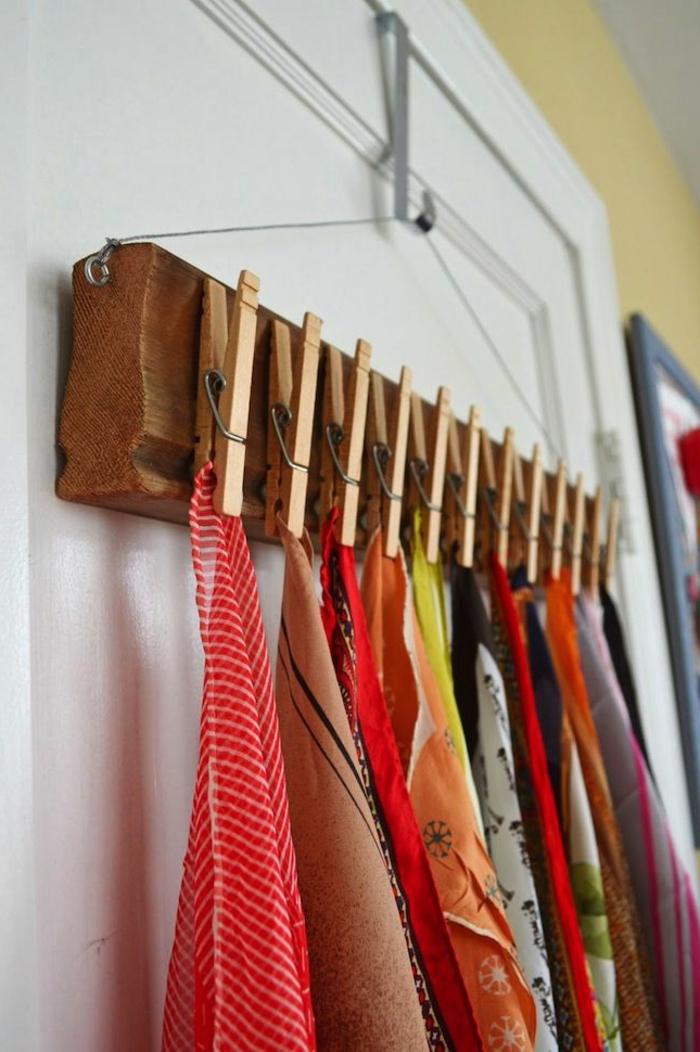 wohnideen selber machen wäscheklammern tücher aufhängen