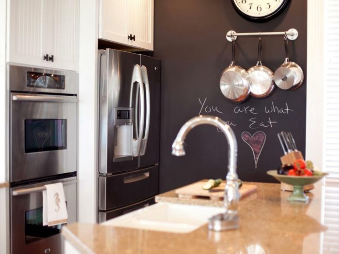 wohnideen zum selber machen küche geschirr aufhängen wandregal