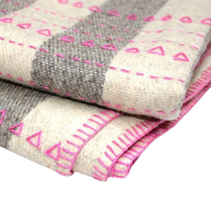 wolldecken naturbelassen mexiko fair trade stickarbeit rosa amidini