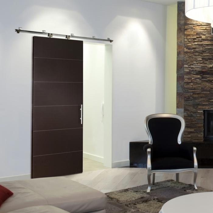 Zimmertüren modern dunkel  Ausgefallene Zimmertüren und Eingangstüren, welche zum Hauptakzent ...