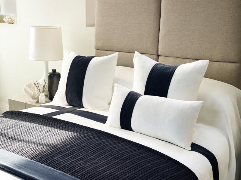 zweifarbige Bettwäsche schwarz weiß elegant