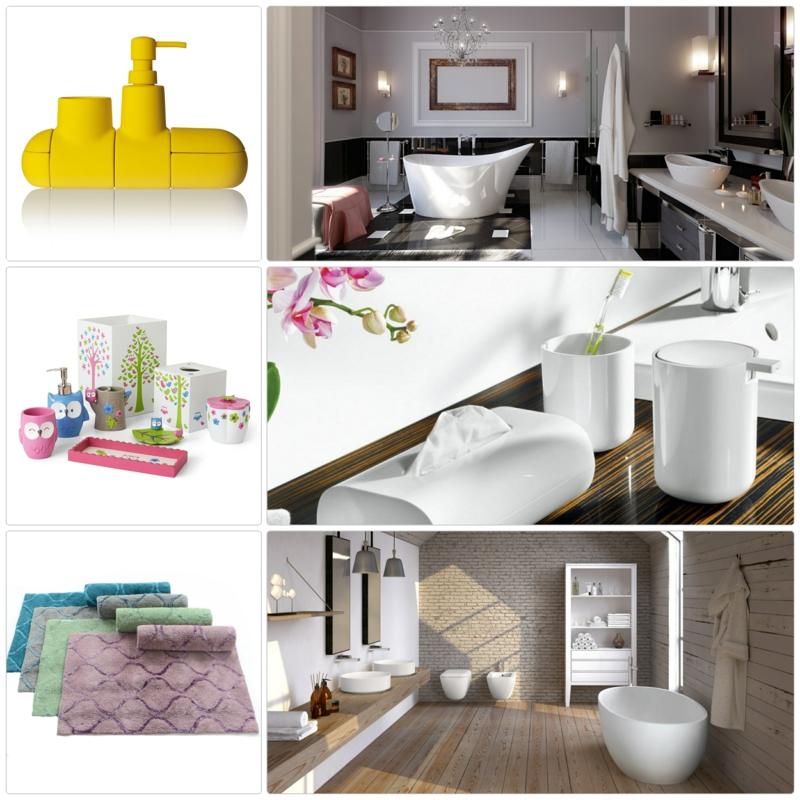 Badaccessoires Badzubehör Badezimmer einrichten Ideen