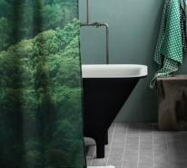 Badaccessoires von H&M Home in den Farben Grün und Weiß