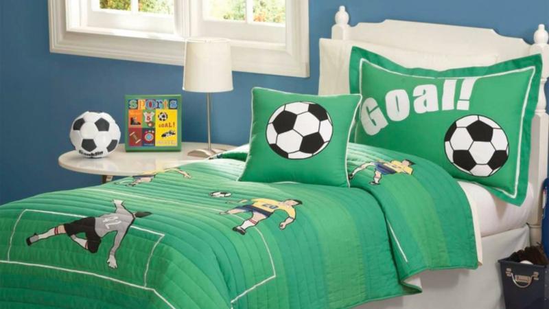 Bilder Kinderzimmer Junge Kinderbettwäsche Fußball Thema