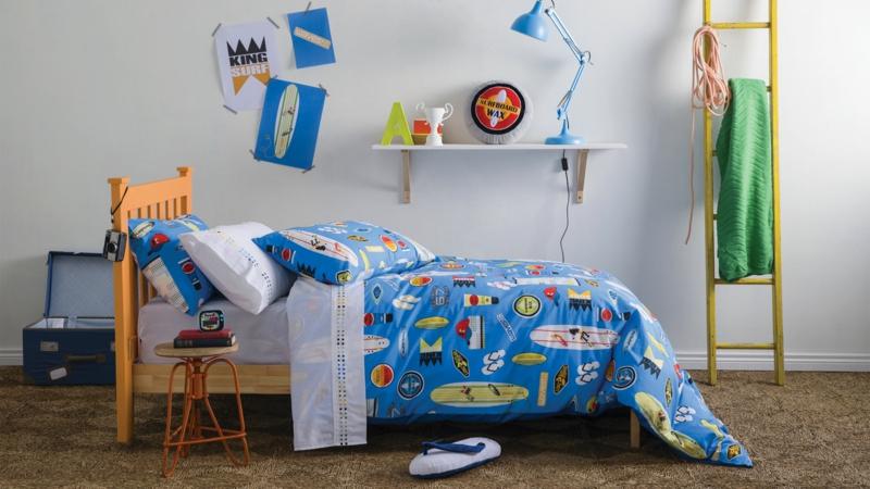 Bilder Kinderzimmer für Jungs Kinderzimmergestaltung Bettwäsche Accessoires in Blaú