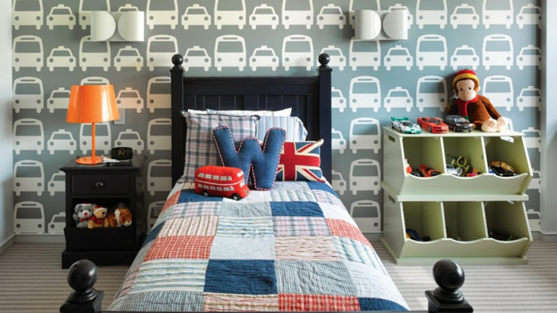 kinderzimmer junge auto. Black Bedroom Furniture Sets. Home Design Ideas