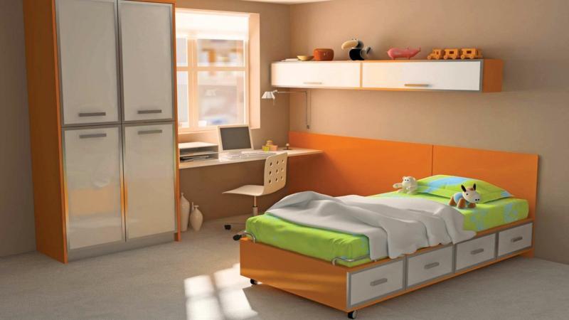 Bilder Kinderzimmer für Jungs kindermöbel Bett