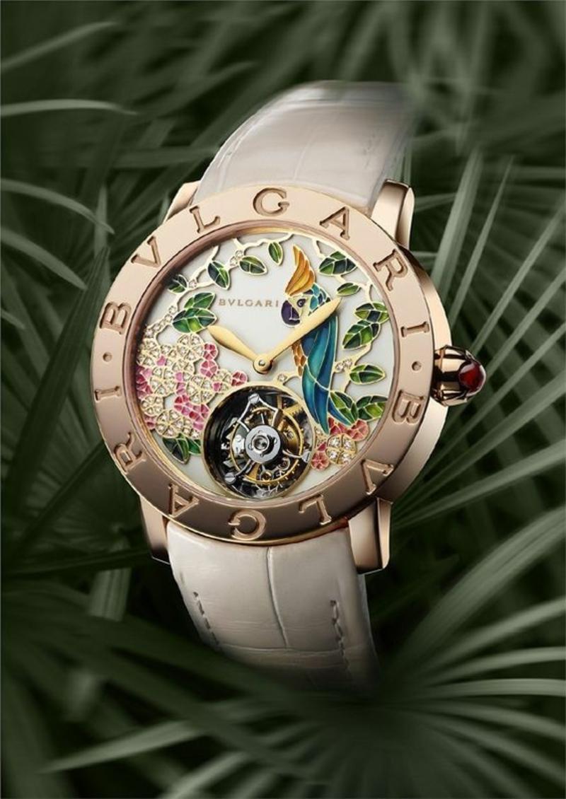 Bulgari Damenuhr Design Armbanduhr Damen rosegold