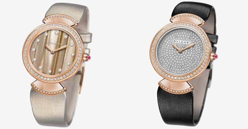 Bulgari Damenuhren elegantes Design Damen Armbanduhr mit Diamanten bestückt