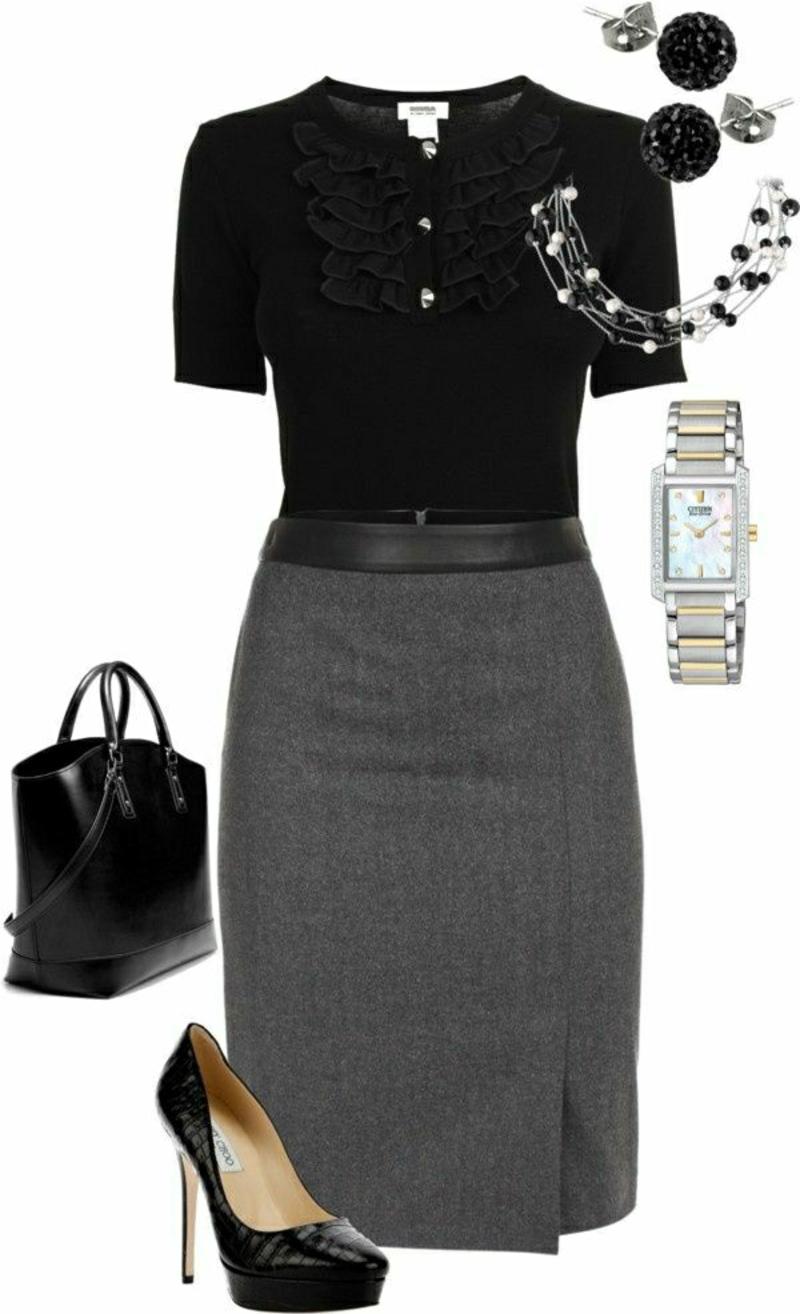 Business Mode Damen Business Outfit Frau rock accessoires