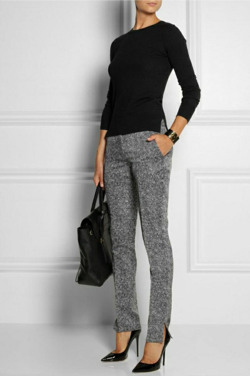 Business Mode Damen Business Outfit Frau schwarz weiß