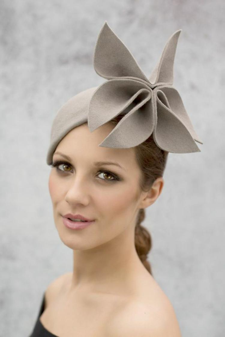 f0ecc82d360d3b Damen Filzhut elegant Blumenmotiv Damenmode und Stylingstipps Damenhüte für  jeden Anlass: So tragen Sie einen modischen Hut mit Stil ...