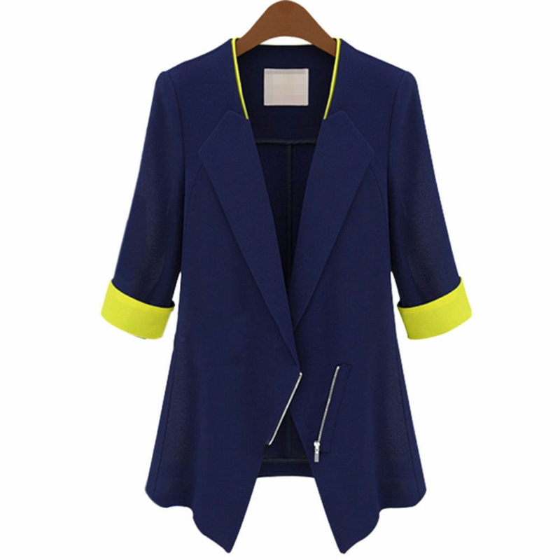 Damen Sakko Blau modern mit Reißverschluss Damenmode