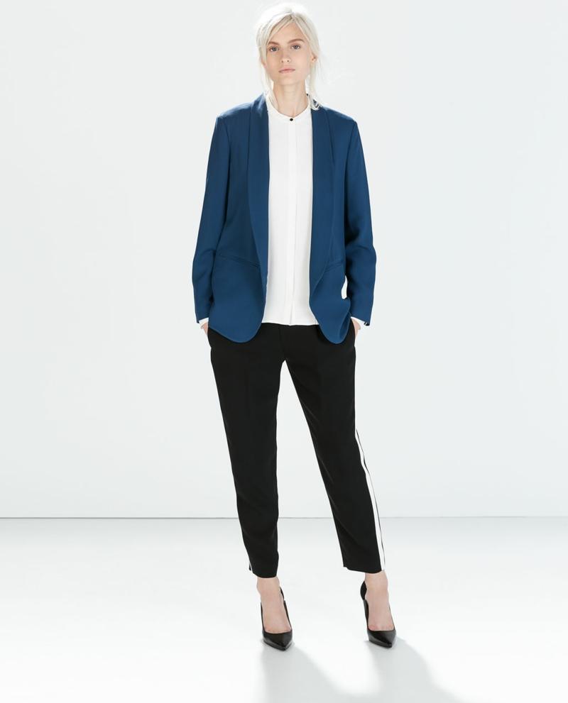 Damen Sakko Blau sportlich elegant Damenmode skandinavischer Stil