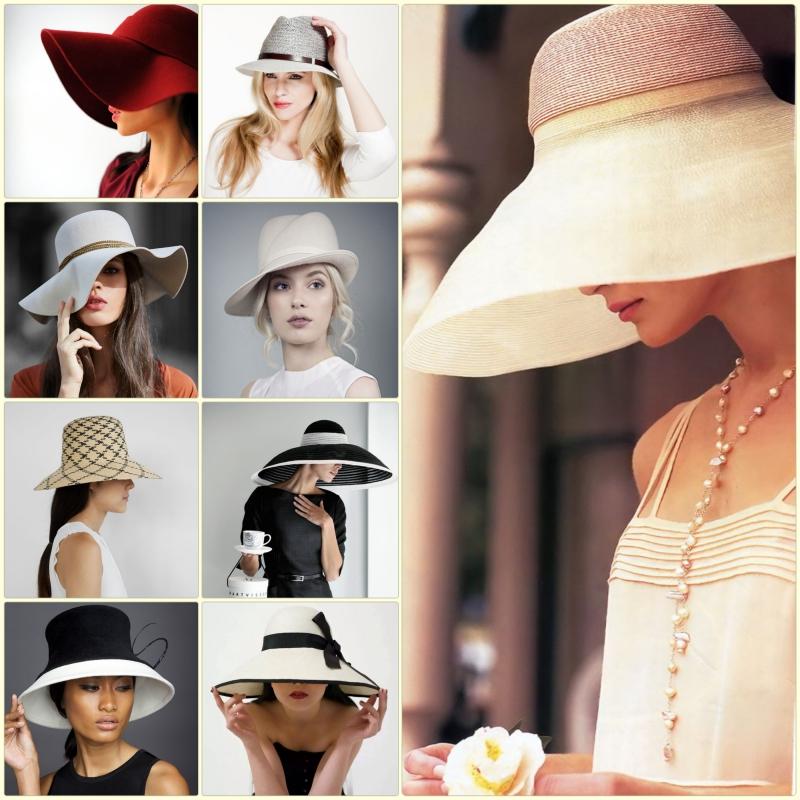 Damenhüte Damenmode und Stylingstipps Filzhut Strohhut Modelle