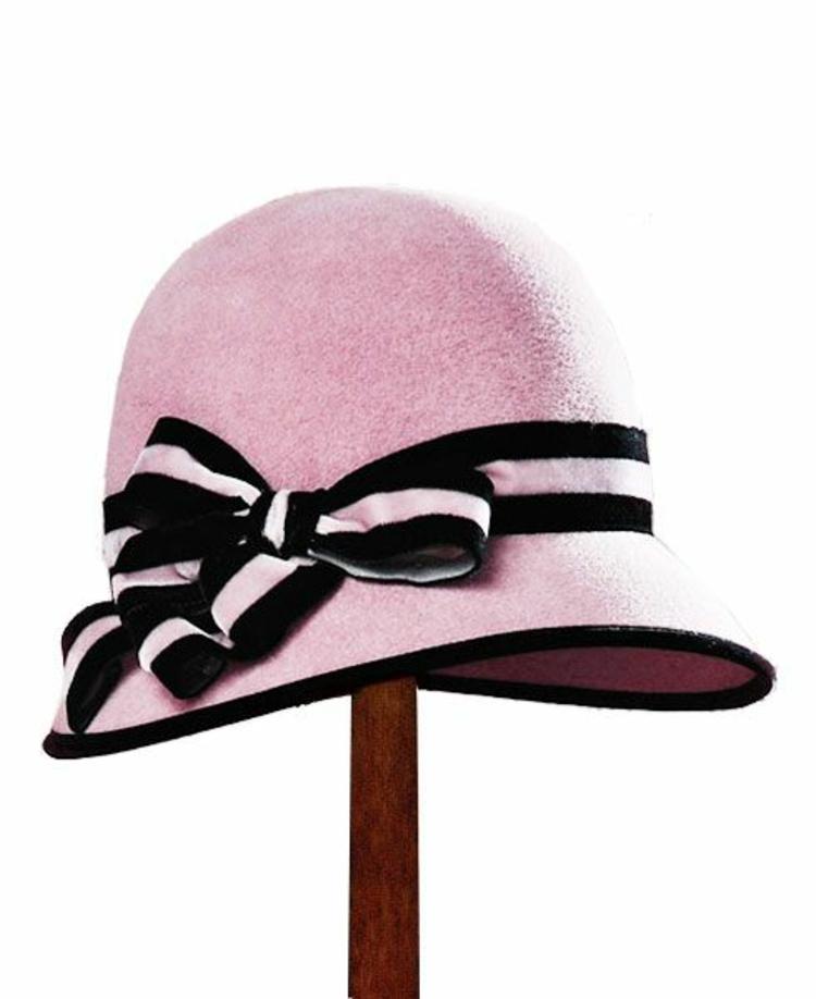 Damenhüte Damenmode und Stylingstipps Retro Stil rosa Damenhut