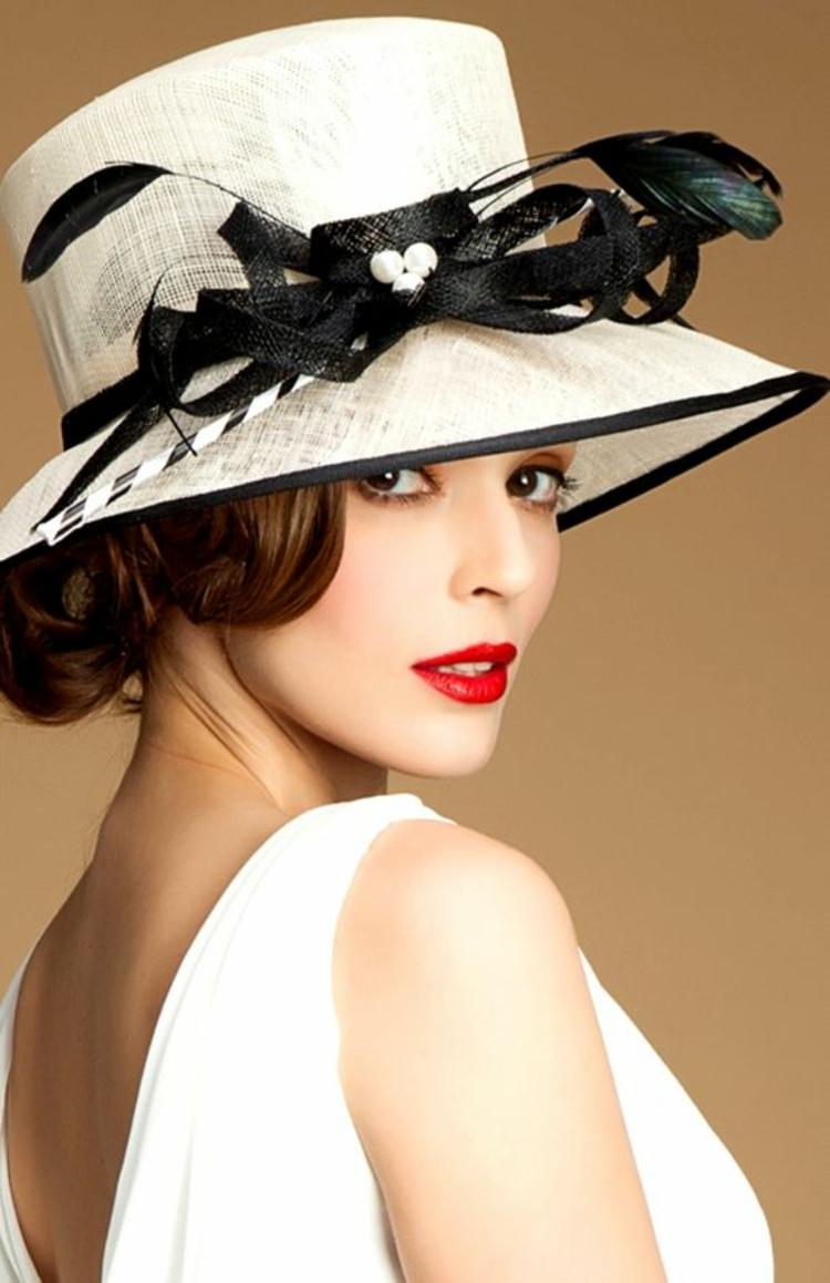 Damenhüte Damenmode und Stylingstipps eleganter Damenhut