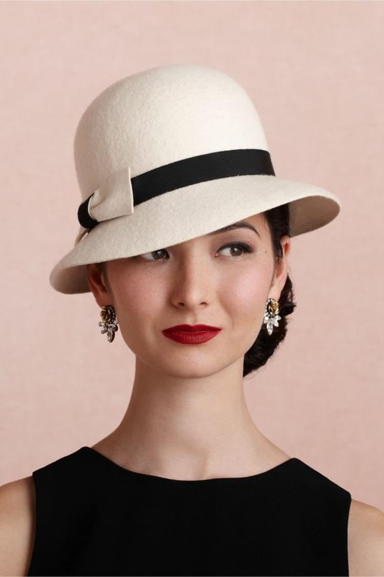 Damenhüte Damenmode und Stylingstipps schwarz weiß Hut Damen