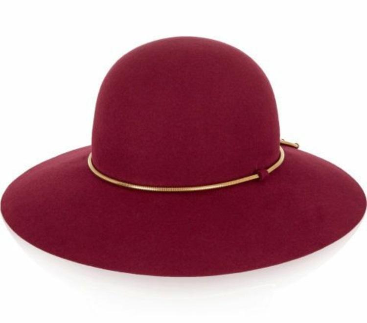 Damenhüte Filzhut kirschenrot Damenmode und Stylingstipps