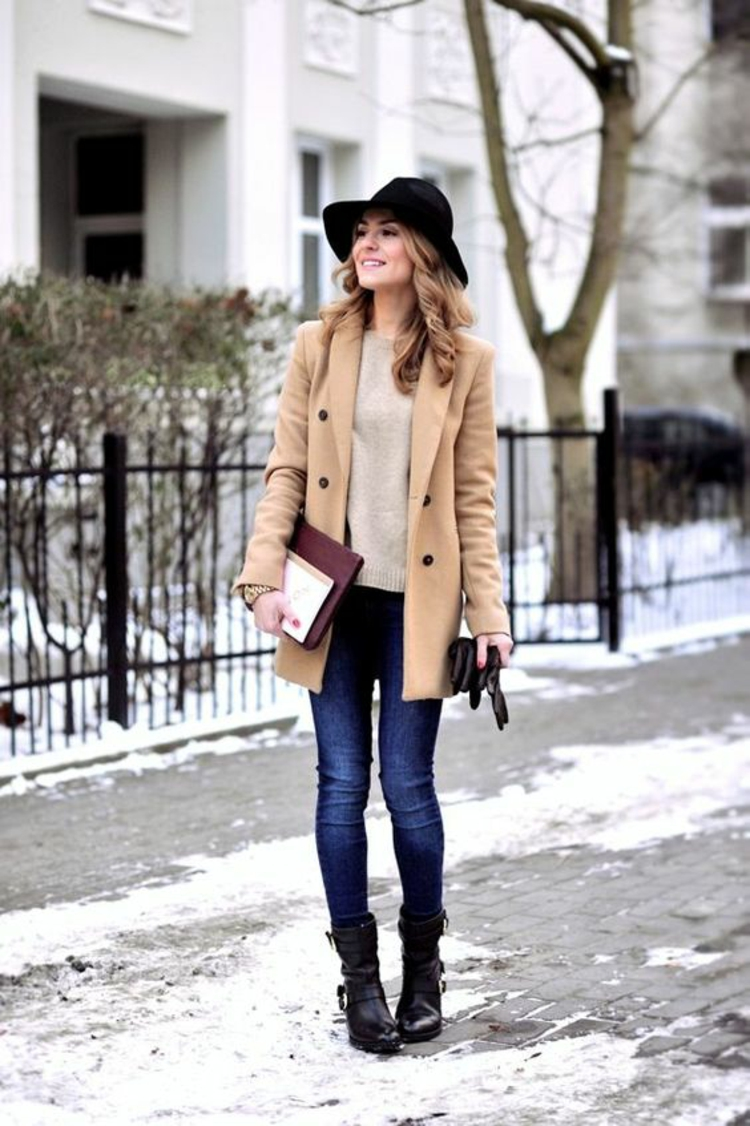 Damenhüte Winteroutfits Filzhut Damenmode und Stylingstipps