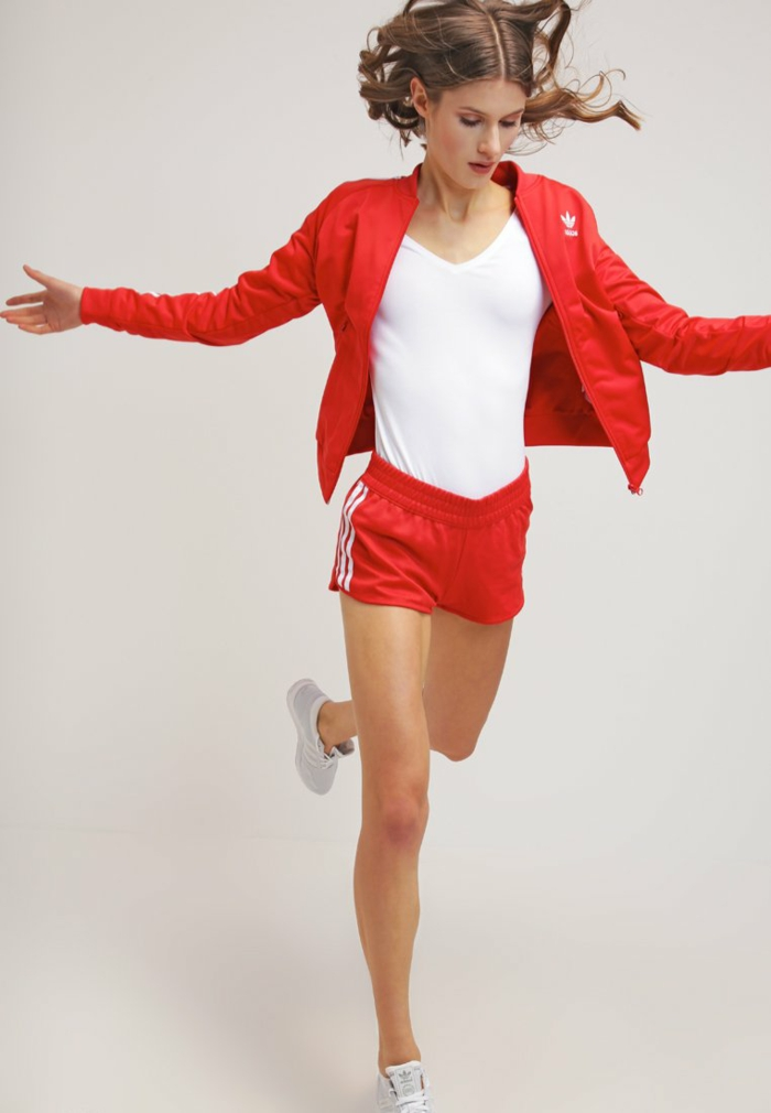 Damen hosen rot modetrends 2016 adidas originals