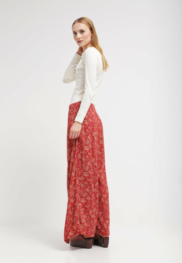 Damen hosen rot modetrends 2016 hippie weite hose