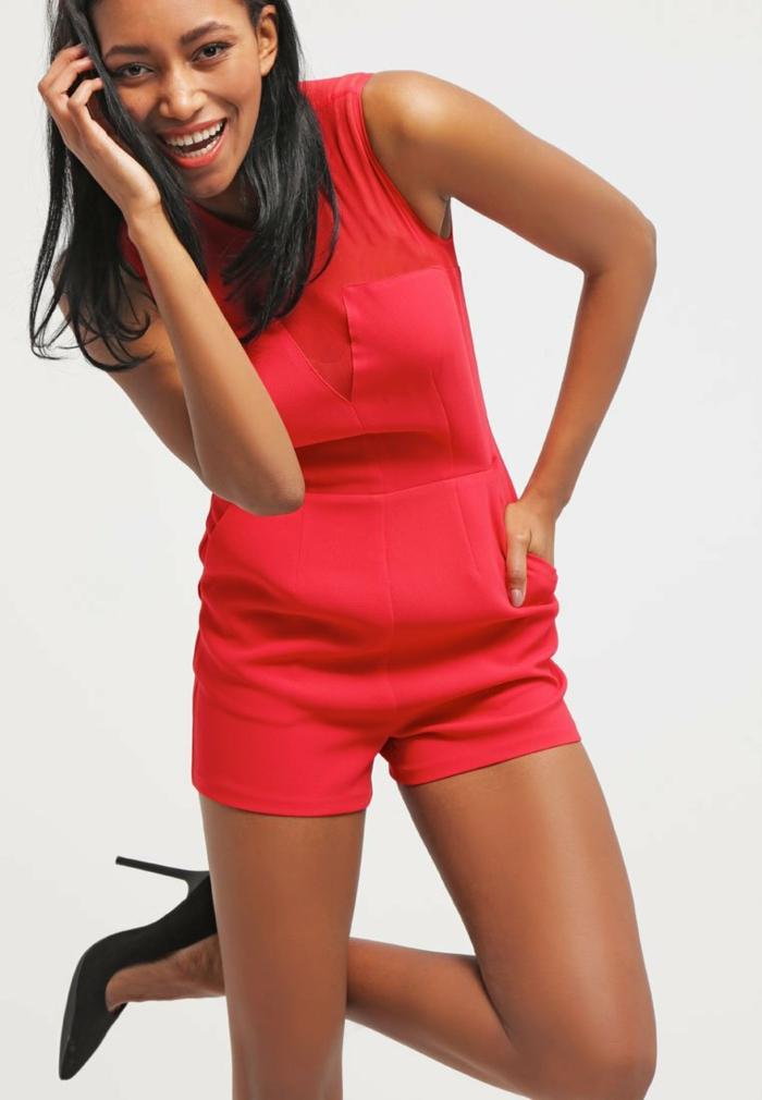 Damen hosen rot modetrends 2016 weinroter jumpsuit rot