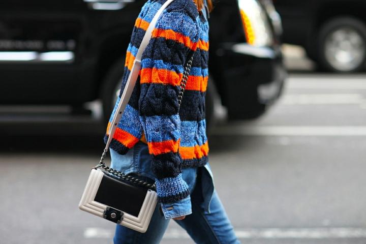 Damenpullover Streifenmuster farbig Trends 2016 casual Mode