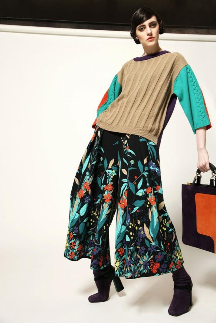 Damenpullover farbenfroh kurze Ärmel Strickmode