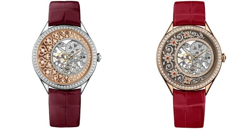 Damenuhren elegantes Design rote Uhrenarmbänder Leder