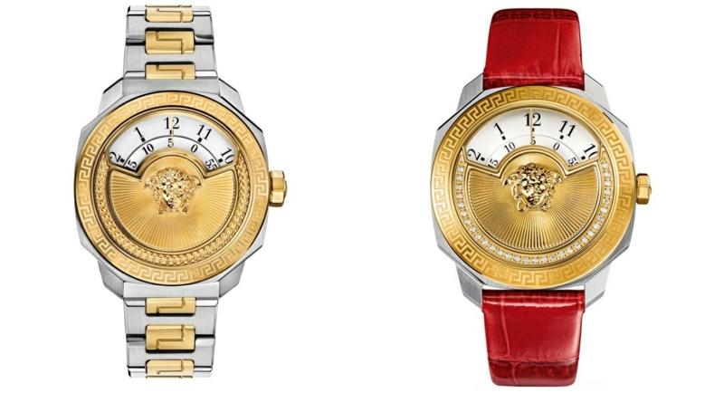 Damenuhren gold elegantes Design rotes Uhrenarmband Leder