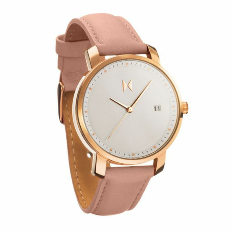 Damenuhren schlichtes Design Leder Armbanduhr Damen