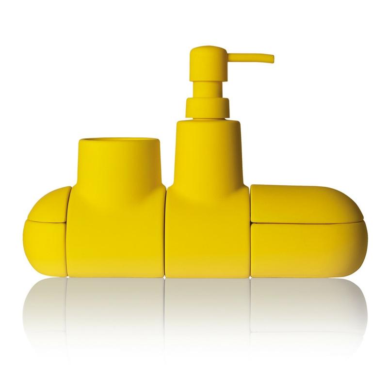 Designer Badaccessoires gelb Seifenspender Badezimmer einrichten