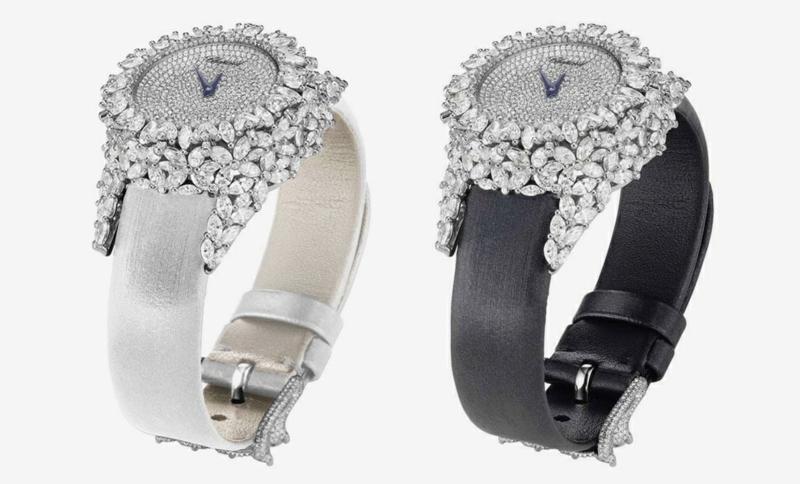 Designer Damenuhren elegantes Design mit Diamanten bestückt